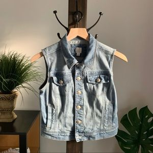 LC Lauren Conrad Denim Vest